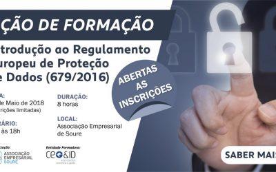Formação – Implementação de requisitos do regulamento de Proteção de Dados (679/2016)