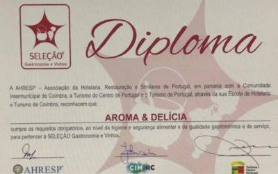 """AROMA & DELÍCIA distinguido no Programa """"SELEÇÃO Gastronomia e Vinhos"""""""