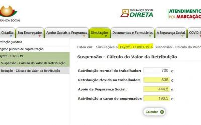 COVID-19 | Conheça o simulador de salário em lay-off simplificado criado pela Segurança Social